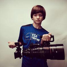 Blackmagic Pocket Cinema Camera Mounted on a Big Lens