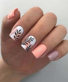 30 Cute Spring Nail Design Trends And Ideas That You Need To Try Out Cute Gel Nails, Chic Nails, Classy Nails, Stylish Nails, Trendy Nails, Classy Nail Designs, Nail Designs Spring, Best Nail Designs, Cute Summer Nail Designs