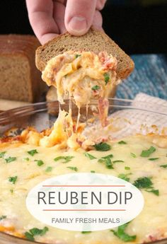 This Reuben Dip is a twist on the classic Reuben sandwich. Instead of piling meat, cheese, and dressing onto the bread, you bake up this gooey perfection.