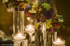 hanging candle votives as centerpieces | ... Petal: Illuminate with Hanging Votives, Floating Candles, and Pillars