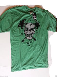 #VOLCOm men size M green graphic short sleeve t-shirt NWT visit our ebay store at  http://stores.ebay.com/esquirestore