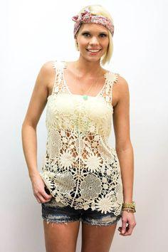 $24 #lace #cream #crochet