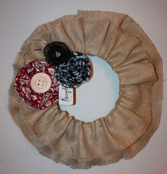 How to Burlap Wreath | ... this wreath tutorial they found on line for a burlap wreath it s so