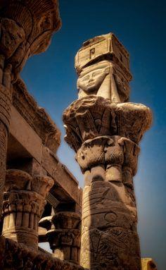 Egypt - Detail of Hathor column ©2015 John Galbreath