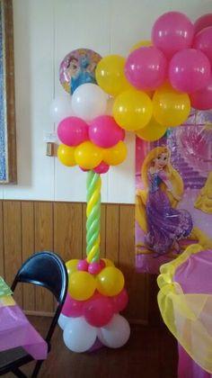 Disney princess balloon collumn