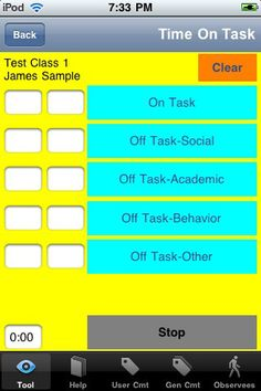 Special Education Edition: eCOVE Observation Software ($0.00) Gather objective data while observing teaching practices and student behavior. Nine very easy to use timer, counter, checklist, and scale tools included with more available. Additional information about data-based observations and eCOVE Software at www.ecove.net.     Use on iPad, iPhone, iTouch.     ✻ 9 very easy to use tools included; more available to download or create your own with templates