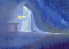 """The Virgin Mary cared for her child Jesus with simplicity and joy Greeting Card for sale by Elizabeth Wang .  Our premium-stock greeting cards are 5"""" x 7"""" in size and can be personalized with a custom message on the inside of the card.  All cards are available for worldwide shipping and include a money-back guarantee."""
