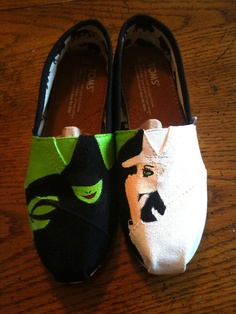 Wicked, the musical Hand Painted TOMS Shoes These are amazing