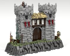 Max Holmes' third medieval project in a fantastic render of a castle gate. The style of build is similar to his previous model, which is heavily detailed and textured.