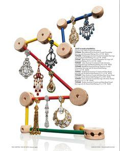 Earrings by Jose & Maria Barrera at Neiman Marcus. Book Jewelry, Bead Jewellery, Jewelry Art, Jewelry Design, Beaded Jewelry, Jewelery, Starburst Earrings, Gold Statement Earrings, Neiman Marcus Christmas Book