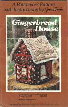 Gingerbread House A Patchwork Sewing Pattern with by byLisaAnne, $8.00
