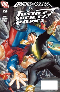 Alex Ross paints the cover of issue 24 of Justice Society of America.