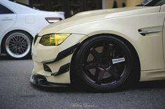 Mmmm #Cream #BMW #Stance #Lowered #HellaFlush #LowLife #Low #Stanced #StreetSweeper #Slammed #Flush #Fitment #DefineStance