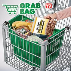 "Grab bag.  This is great for going shopping where they tell you that you can't put the products into the bags until you purchase them.  This way you can use it as a ""basket"" and then a bag!"