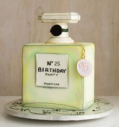 Chanel perfume bottle cake