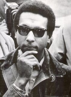 Stokely Carmichael from SNCC and the Black Panther Party Stokely Carmichael, Black Panthers Movement, Black Leaders, Black Panther Party, Black History Facts, Power To The People, African Diaspora, Black Pride, African History