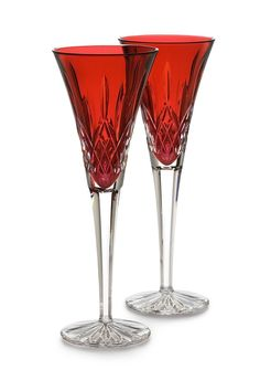 Amazon.com | Waterford Crystal Lismore Crimson Flute Pair: Champagne Flutes: Champagne Glasses