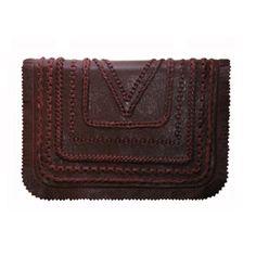 Braided+Leather+Mini+Bag+-+Burgundy+by+KOVA
