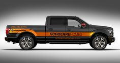 Create a truck wrap for Ford F150 Schoenne Homes