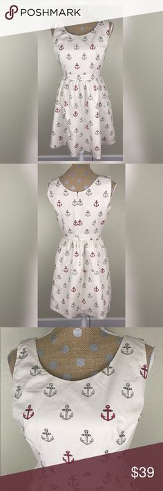 "Maison Jules Dress 📐Measurements & Information 📐  Chest Approx 36"" Waist Approx 29"" Length approx 33.5"" Back zipper  100% cotton Maison Jules Dresses"