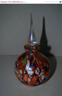 40 off sale Murano style perfume bottle with by capecodgypsy, $20.40