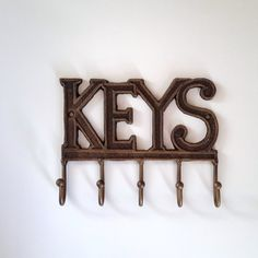 Key holder rustic key hook barn wood home organizer by RaggedyRee