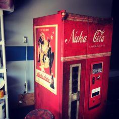 Nuka cola fridge skin. Every orders is custom fit your fridge Www.rmwraps.com