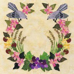 Blk # 36 Arkansas - American Album Quilt pattern -by Pearl P. Pereira Designs
