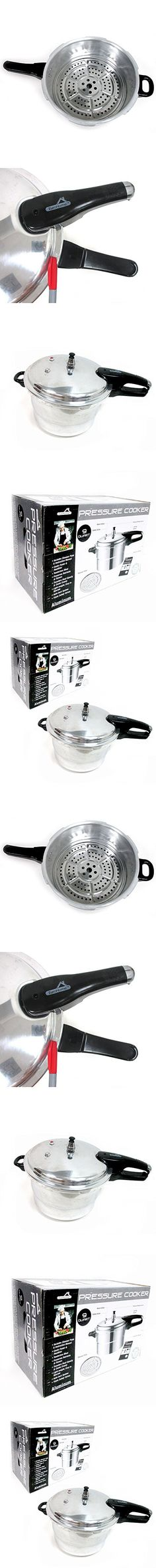 9 Quart Pressure Cooker Kitchen Cookware Pot Steamer Heavy Duty Aluminum New !