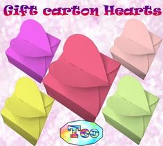 """Back to school activities - Gift carton Hearts - Editable Template - Teacher giftHere is a fun """"Gift carton Hearts"""" to do with your children who enjoy…"""