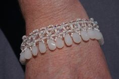 Bracelet for white Necklace for a Bride by GypsysShowCase on Etsy, $29.00