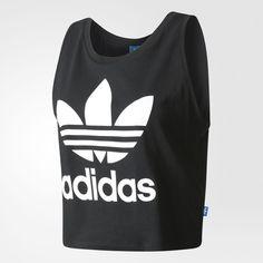 f6ba13d9913 adidas LOOSE CROP TANK - Black | adidas US ($30) ❤ liked on Polyvore