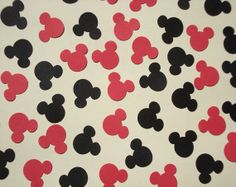 FREE SHIPPING 100 Red and Black Mickey Mouse by 4CraftyCreations, $2.75