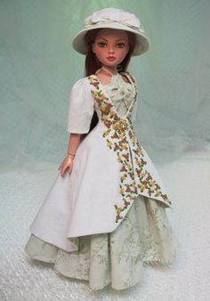 """MHD Designs - """"Frous Frous"""" Fashion Pattern for Ellowyne Barbie Outfits, Barbie Clothes, Girl Outfits, American Girl Clothes, American Girls, Doll Clothes Patterns, Clothing Patterns, Race Day Hats, Dollhouse Clothing"""