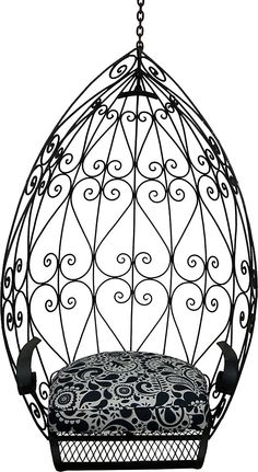 Wrought Iron Hanging Egg Chair, C.1970 | Desert Mod | One Kings Lane