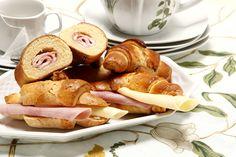 E se os Croissants de queijo e fiambre, forem preparados aí em casa?