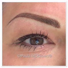An amazing set of hairstroke brows for this lovely lady by Paula McDonald