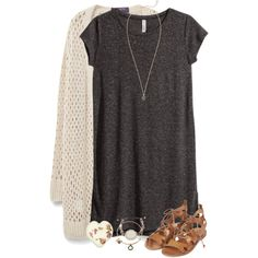 A fashion look from March 2016 featuring H&M dresses, Violeta by Mango cardigans and Topshop sandals. Browse and shop related looks.