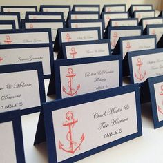 Escort Cards Nautical Escort Card Anchor by UrbanElementsDesign