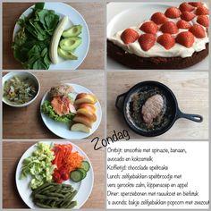 Dagmenu: bewust, puur en gezond en vaak koolhydraatarm Vegan Vegetarian, Paleo, Sugar Detox, Vegan Dishes, Lchf, Cantaloupe, Smoothie, Avocado, Low Carb