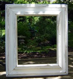 Shabby Chic Picture Frame Rustic Wall Frame White by BluBerriFinds