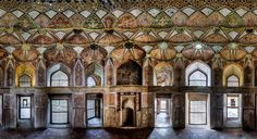 mohammad domiri documents the intricacy of iranian architecture. palace of 8 heavens, isfahan, esfahan, iran.