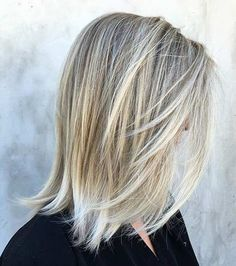 Ice Blonde Bob Haircut with Layers