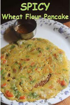 Spicy Wheat Flour Pancakes Recipe - Gavhache dhirde Recipe