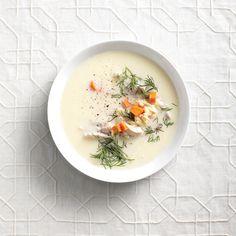 Une belle façon d'utiliser la chair tendre des hauts de cuisses de poulet. Préparation: 15minutes Cuisson: 15minutes 4portions Ingrédients 3 tasses (750ml) de bouillon de poulet 6 hauts de cuisses de poulet désossés, sans la peau, tranchés en fines lanières 1 carotte, hachée finement 3/4tasse (180ml) d'orzo 3 œufs 1/3tasse (80ml) de jus de citron …