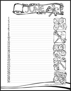 The Art of Remembrance - Zenspirations - make a calendar page for 'notice one thing every day'