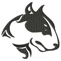 Pit Bull Machine Embroidery Design Single