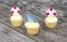 Shark Cupcake Printa