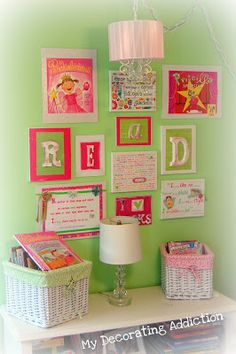 """DIY """"Girl Power"""" Gallery Wall 
