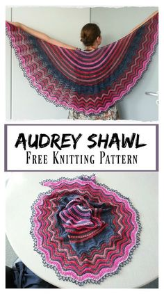 Audrey Lace Shawl Free Knitting Pattern - Audrey Lace Shawl Free Knitting Pattern - Record of Knitting Yarn spinning, weavi. Lace Knitting Patterns, Knitting Blogs, Free Knitting, Knitting Projects, Knitting Tutorials, Lace Patterns, Stitch Patterns, Finger Knitting, Scarf Patterns